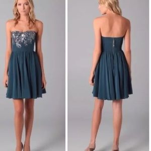 NWOT Rebecca Taylor Embellished Strapless Dress